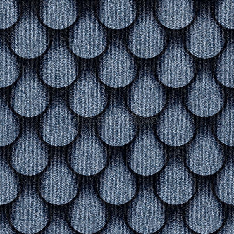 Abstract dalingenpatroon - naadloos patroon - jeanstextiel vector illustratie