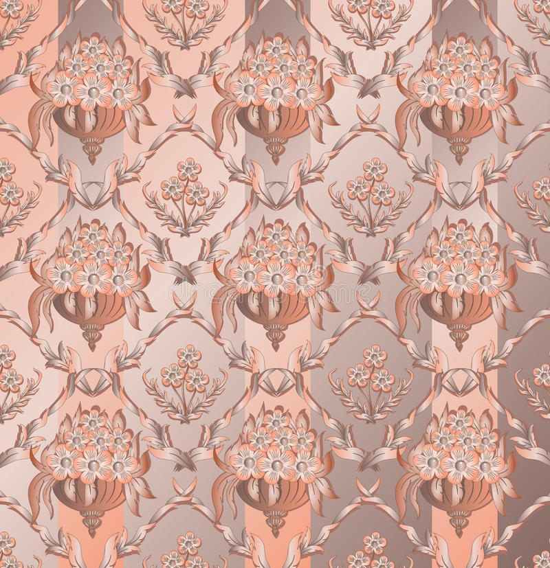 Abstract damask background royalty free illustration