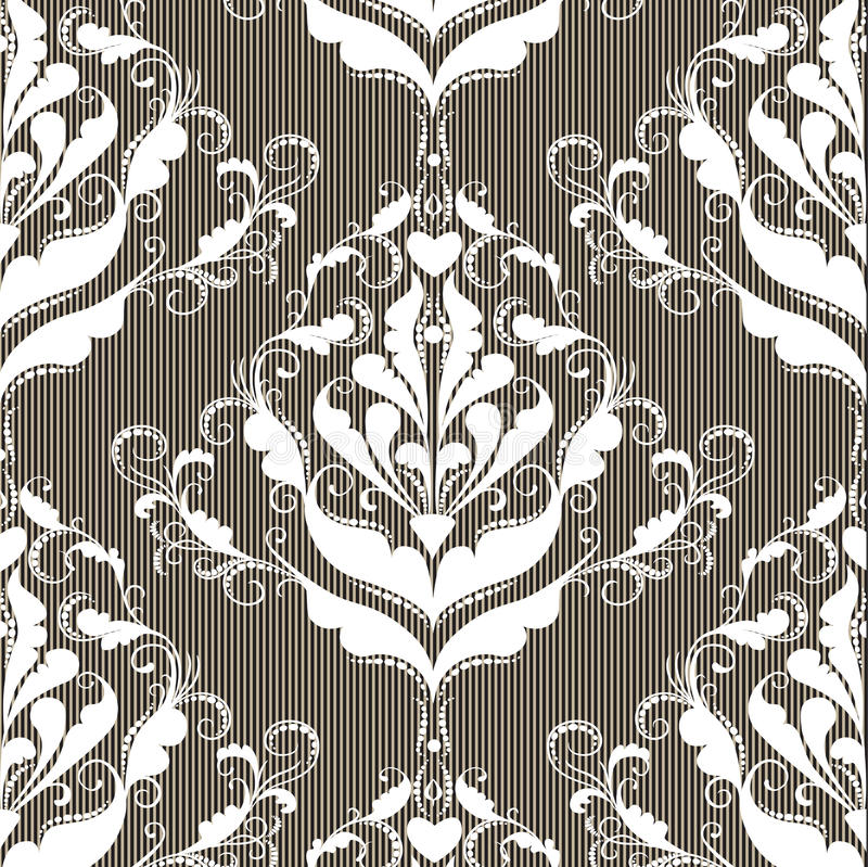 Abstract damask background stock illustration