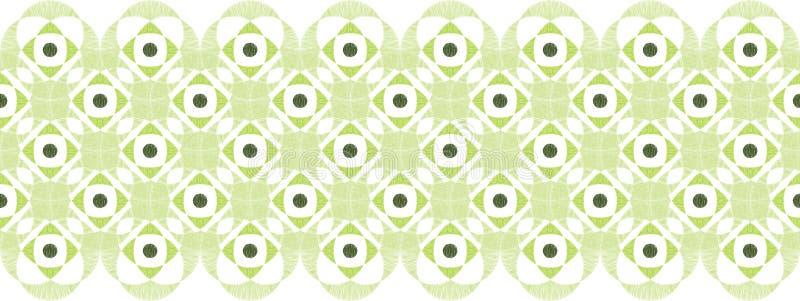Abstract damask swirls horizontal seamless pattern royalty free illustration