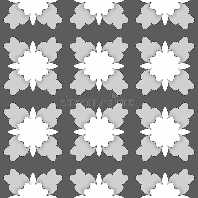 Abstract dark background in shades of gray. Seamless royalty free illustration