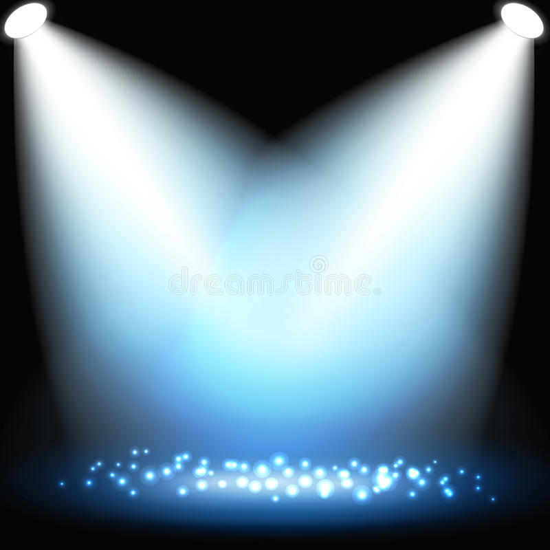 Abstract dark background with spotlights royalty free illustration