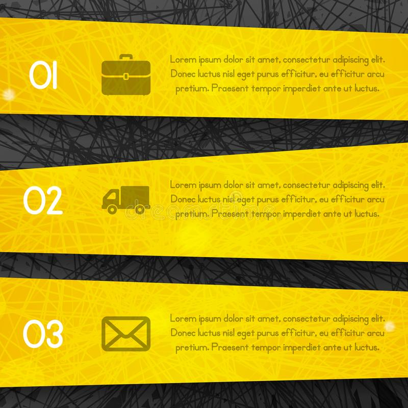 Abstract dark background with yellow lines and stripes style vector illustration