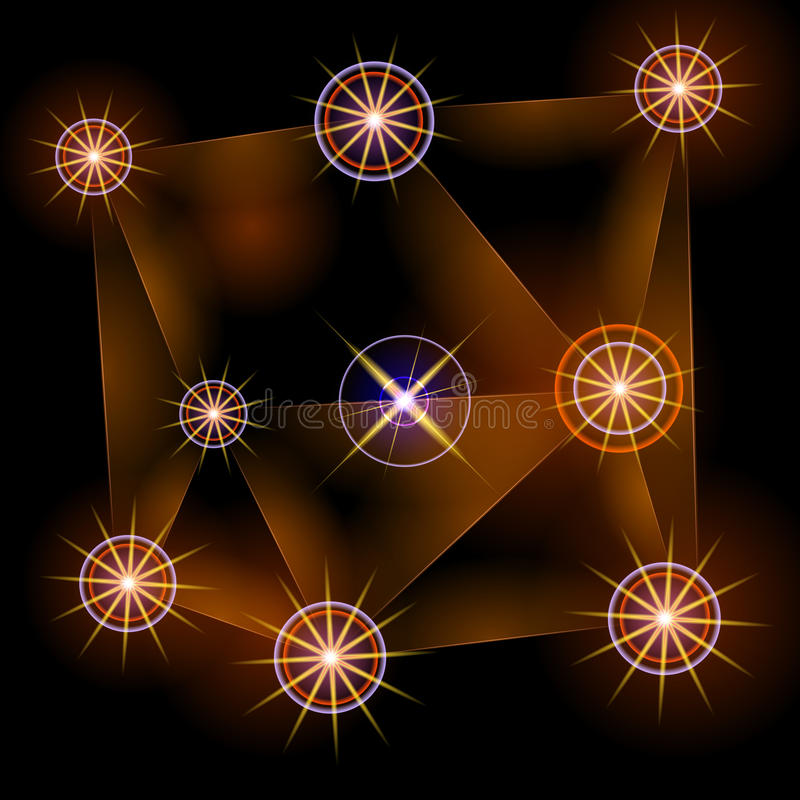 Abstract dark background with yellow stars. Raster #2. Abstract dark background with yellow stars. Raster Raster #2 stock illustration