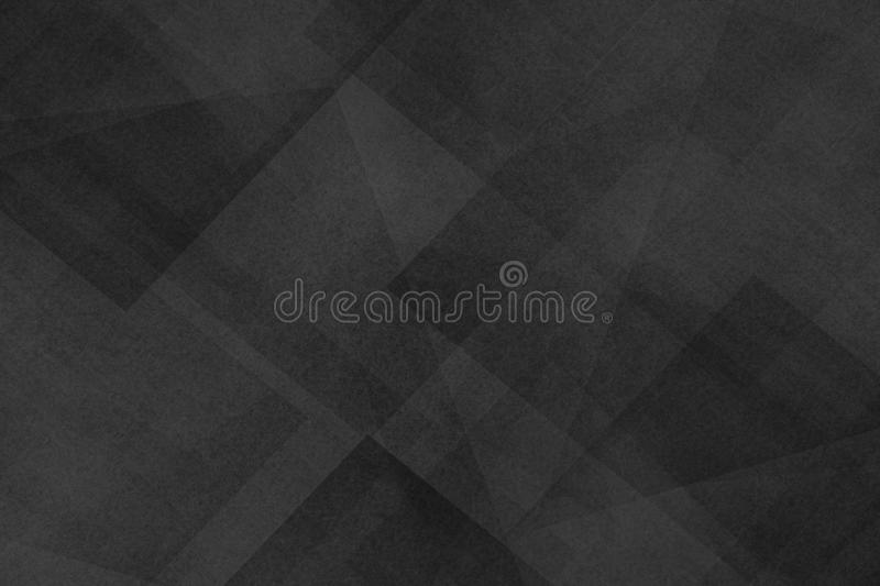 Abstract dark black background with texture and triangle shapes layered in random pattern. In elegant classy design stock illustration
