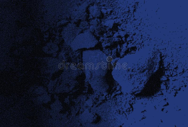 Abstract  dark blue black color effects Scratches texture dark blue background marble pattern Interiors wall design. royalty free stock photo
