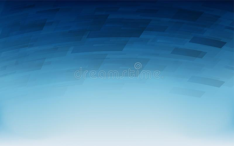 Abstract dark blue geometric overlap on white background. royalty free illustration