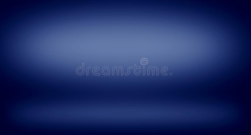 Abstract dark blue gradient for background texture. Wallpaper stock photography