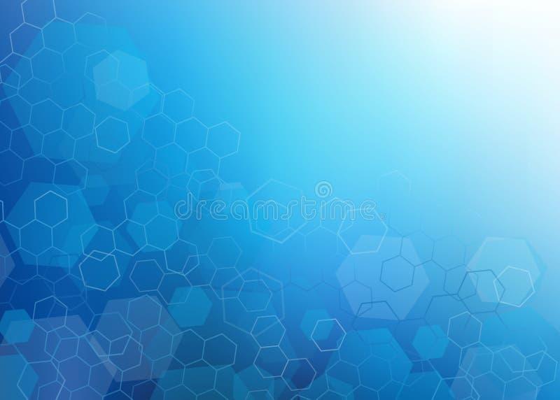Download Abstract Dark Blue Hexagon Design Background. Stock Illustration    Illustration Of Healthcare, Bright
