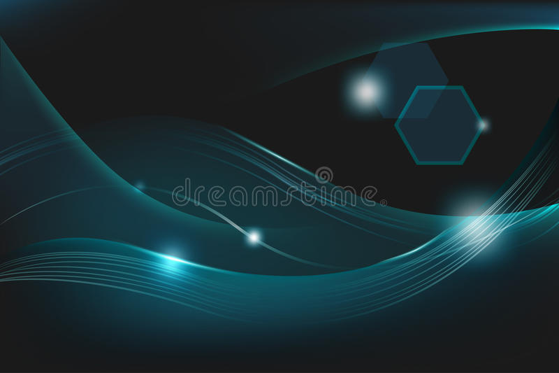 Abstract Dark Blue Line Background Vector stock illustration