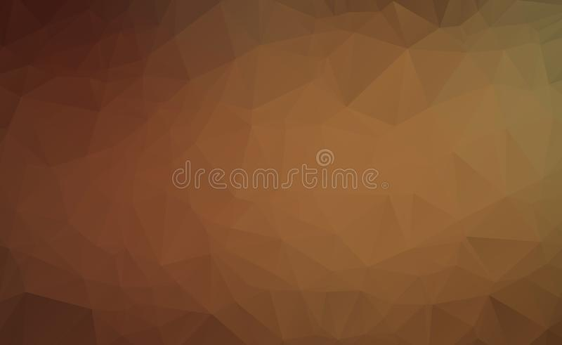 Abstract Dark Brown vector abstract textured polygonal background. Blurry triangle design. Pattern can be used for background.  vector illustration