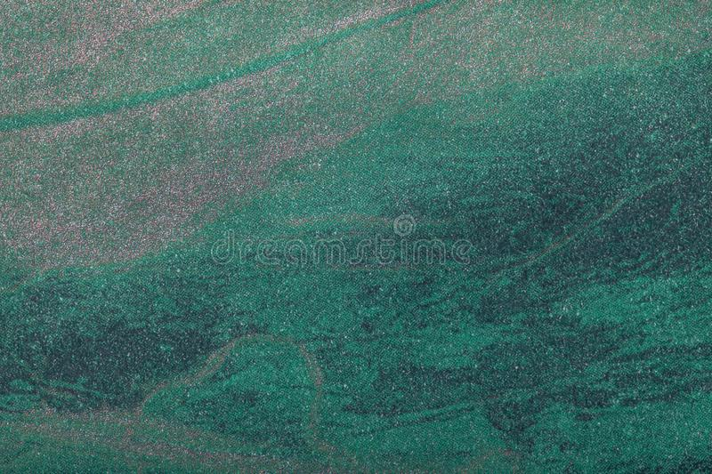 Abstract dark green art background with pattern. Multicolor painting on canvas. Fragment of artwork. Texture backdrop. Decorative. Turquoise wallpaper stock image