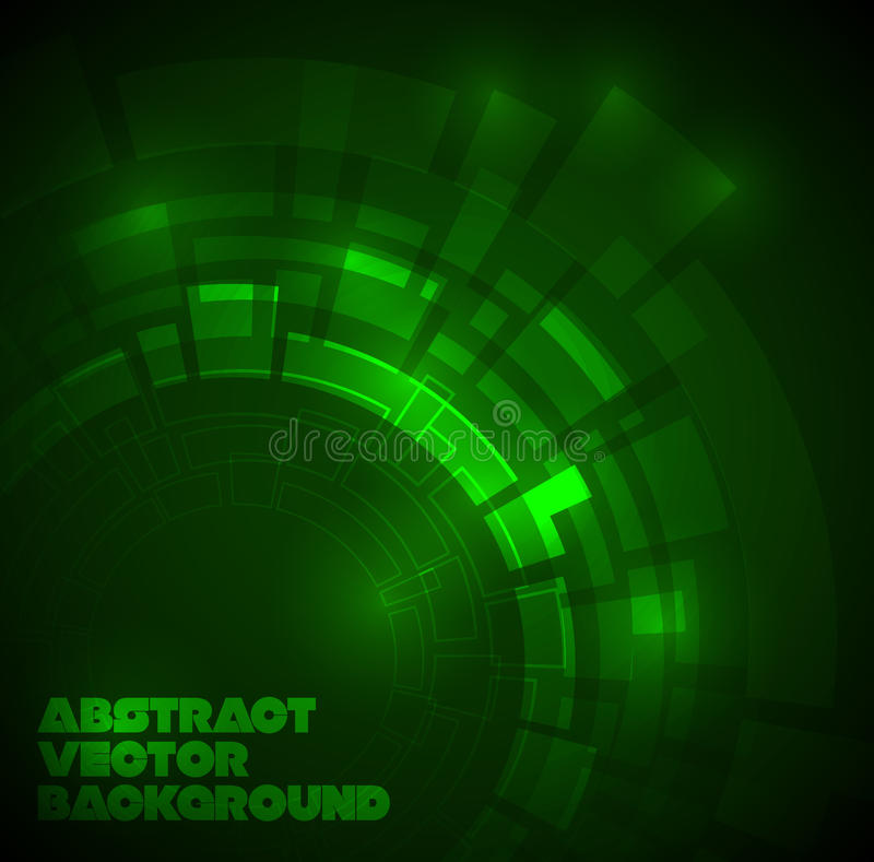 Download Abstract Dark Green Technical Background Stock Illustration - Image: 18478741