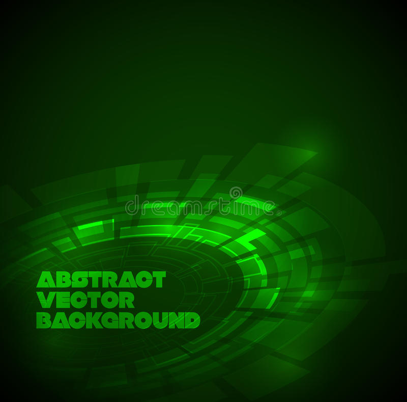 Abstract dark green technical background vector illustration