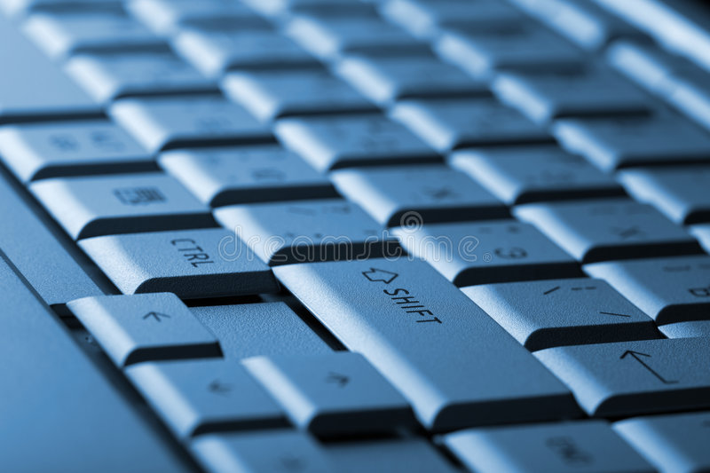 Abstract Dark Keyboard Background Stock Photos