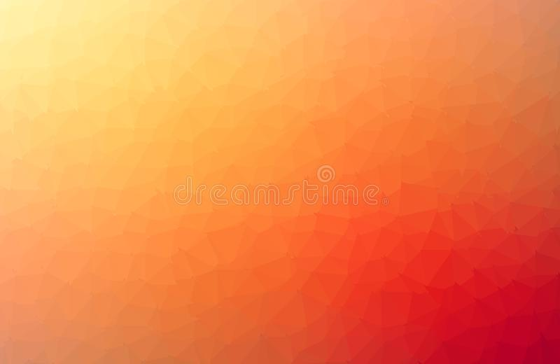Abstract dark Orange Geometric Polygonal background molecule and communication. Connected lines with dots. Concept of the science royalty free illustration