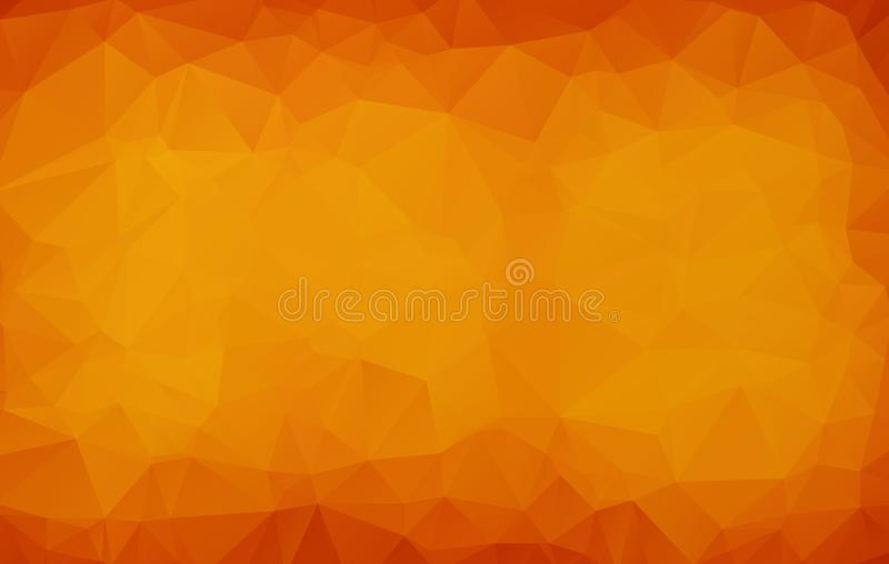 Abstract Dark orange polygonal illustration, which consist of triangles. Geometric background in Origami style with gradient. Tria. Ngular design for your vector illustration