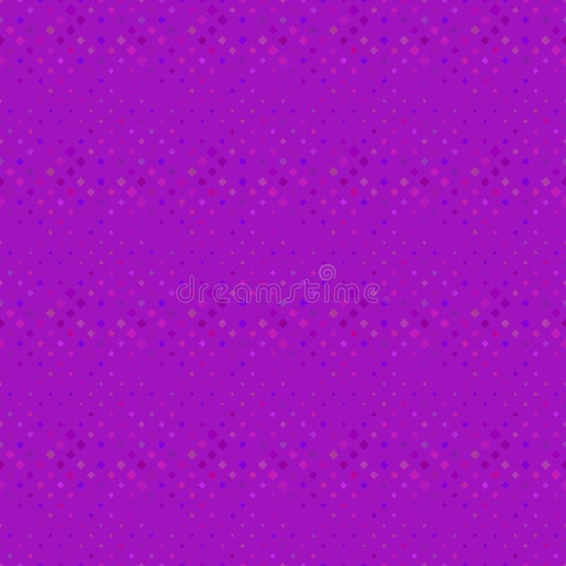 Abstract dark purple diagonal square pattern background stock illustration