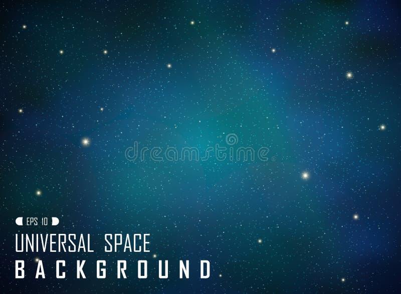 Abstract of dark realistic blue galaxy background with glitters. Abstract of dark realistic blue galaxy background with glitters, vector eps10 vector illustration