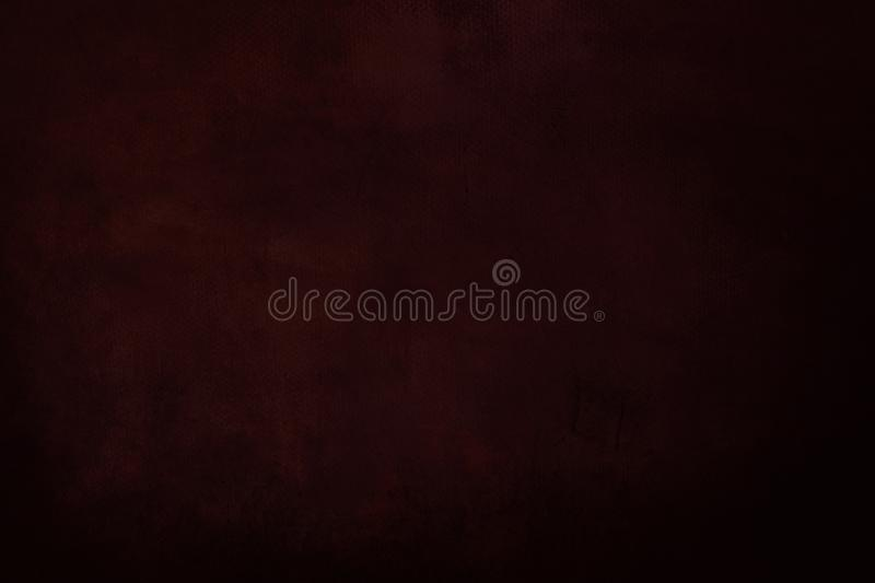 Dark red grungy painting background. Abstract dark red canvas detail texture or background stock images