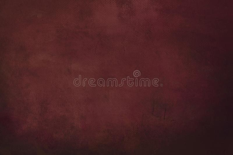 Dark red grungy painting background. Abstract dark red canvas detail texture or background royalty free stock images