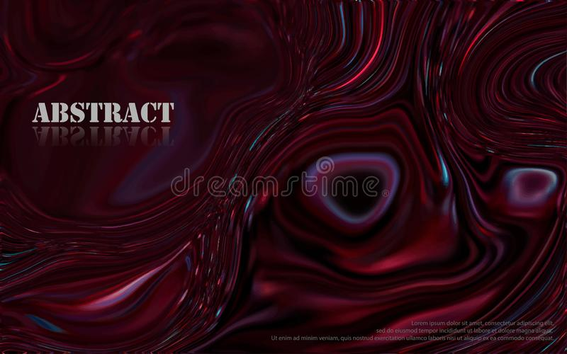 Abstract dark red mixture of acrylic paints surface stock illustration