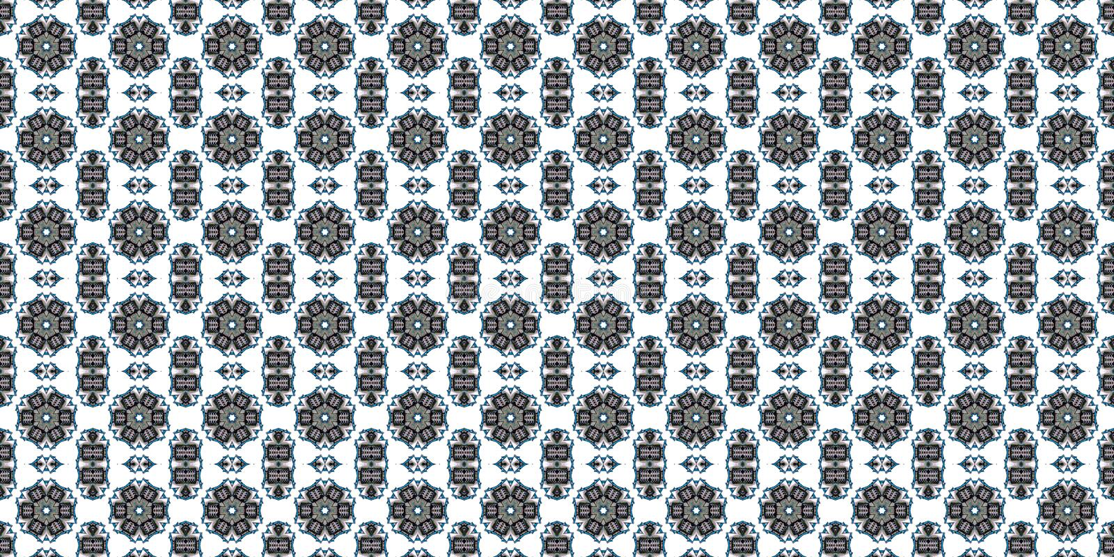 Abstract in dark shadows, paisley ornament. Seamless pattern or textures. Kaleidoscopic orient popular style royalty free stock photography