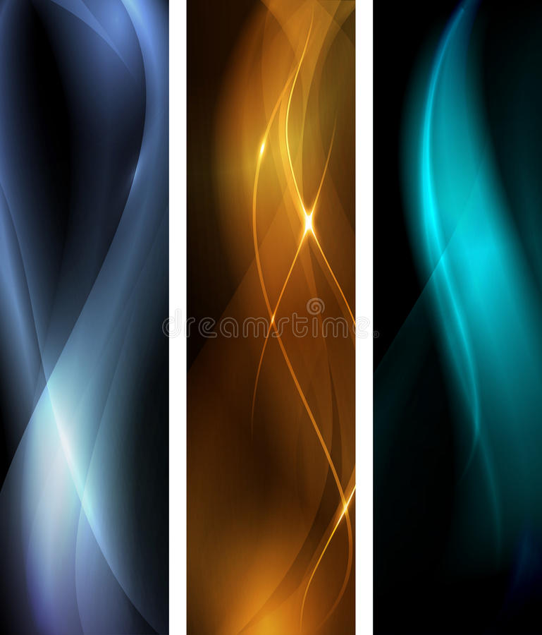Download Abstract Dark Wave Banner Set Stock Vector - Image: 21923345