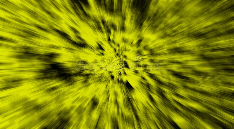 Abstract dark yellow and black speedy fast rays motion background wallpaper. royalty free stock image