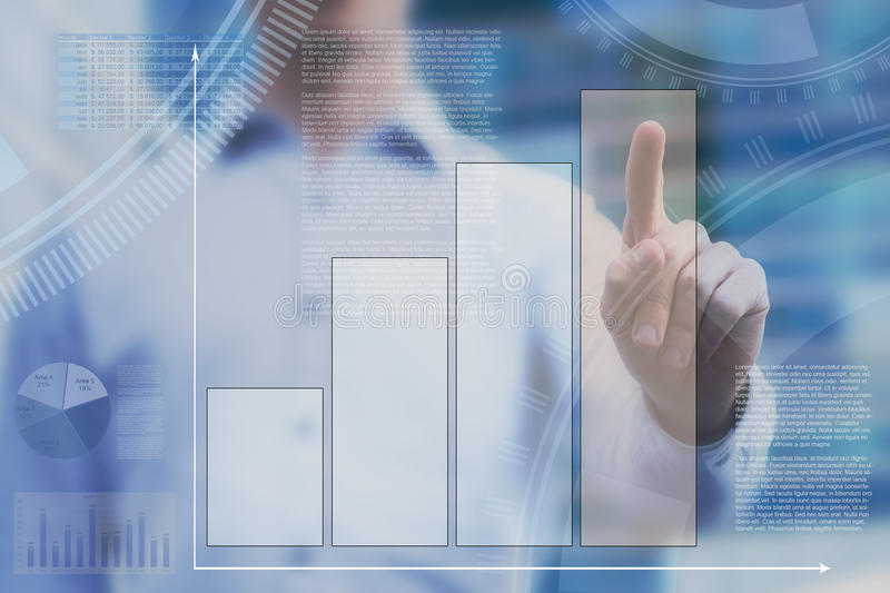 Abstract dashboard on touchscreen stock image