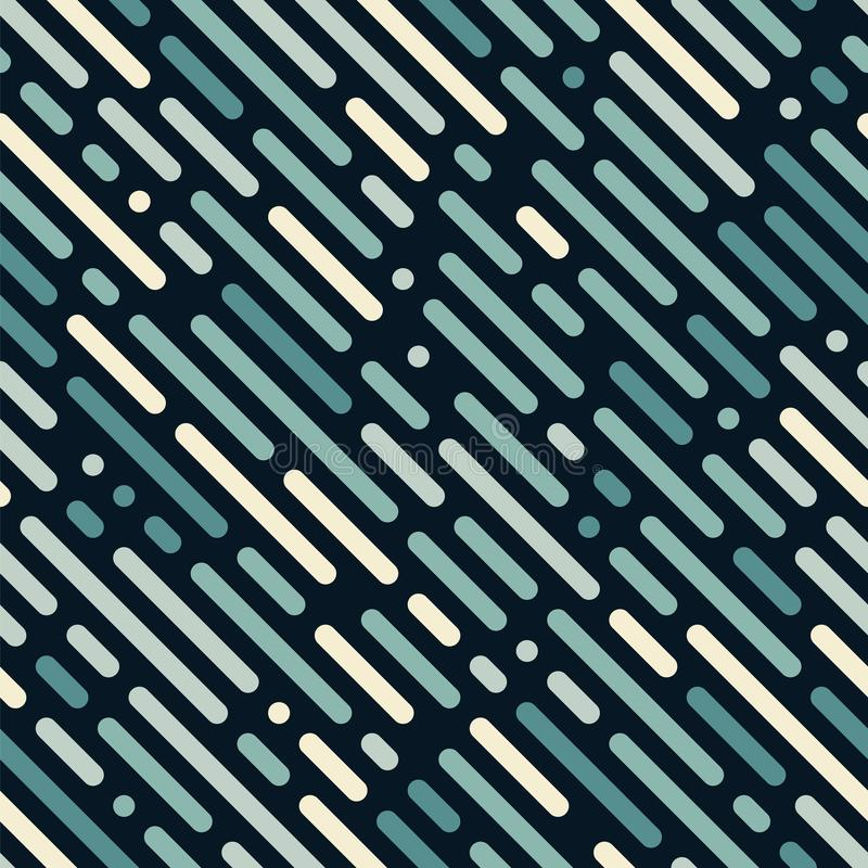 Abstract dashed lines seamless diagonal pattern. Vector background with dot, dash. stock illustration