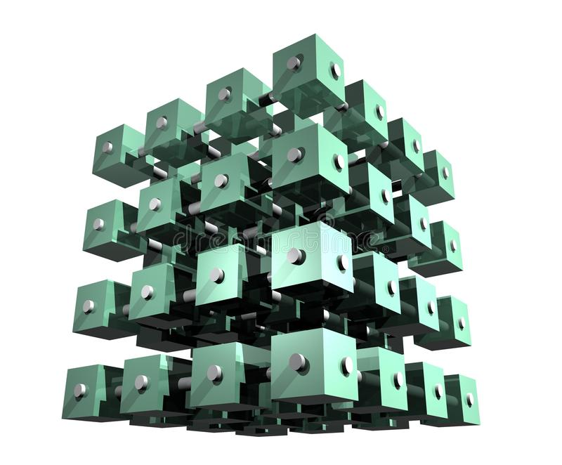Abstract Data Cubes stock image