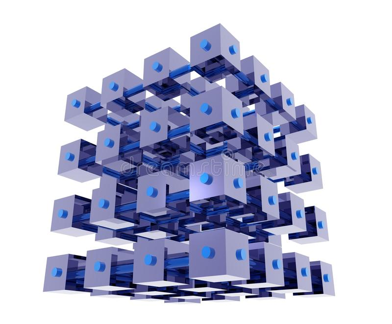 Abstract Data Cubes stock images