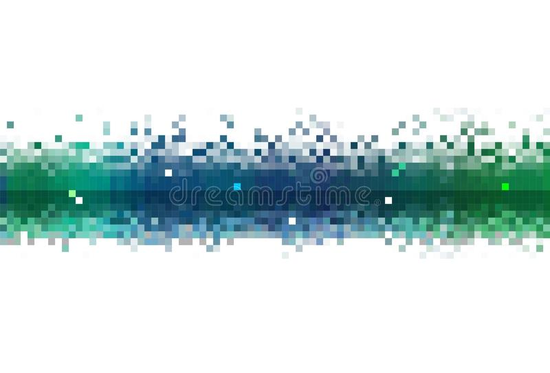 Abstract Data stream. A stream of pixelized and stylized data royalty free illustration