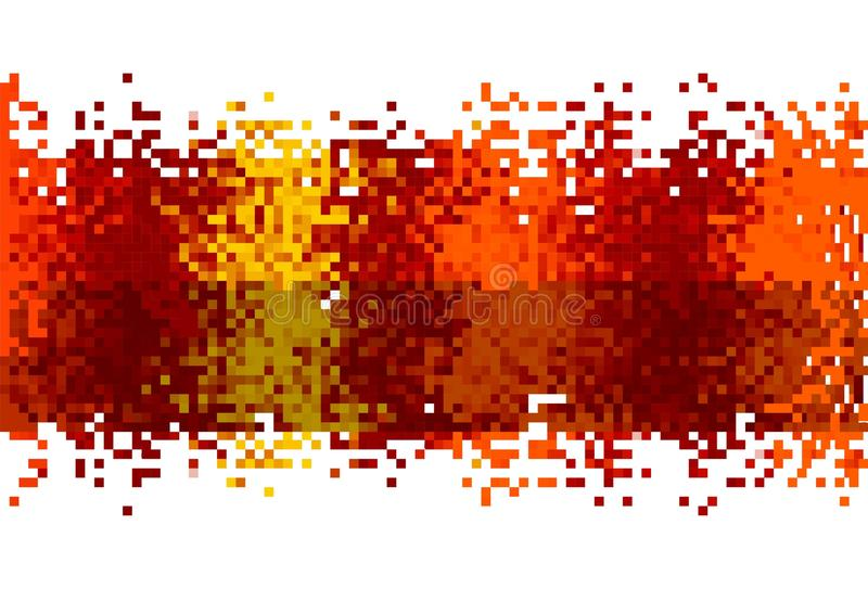 Abstract Data Stream. An abstract stream of pixellated data stock illustration