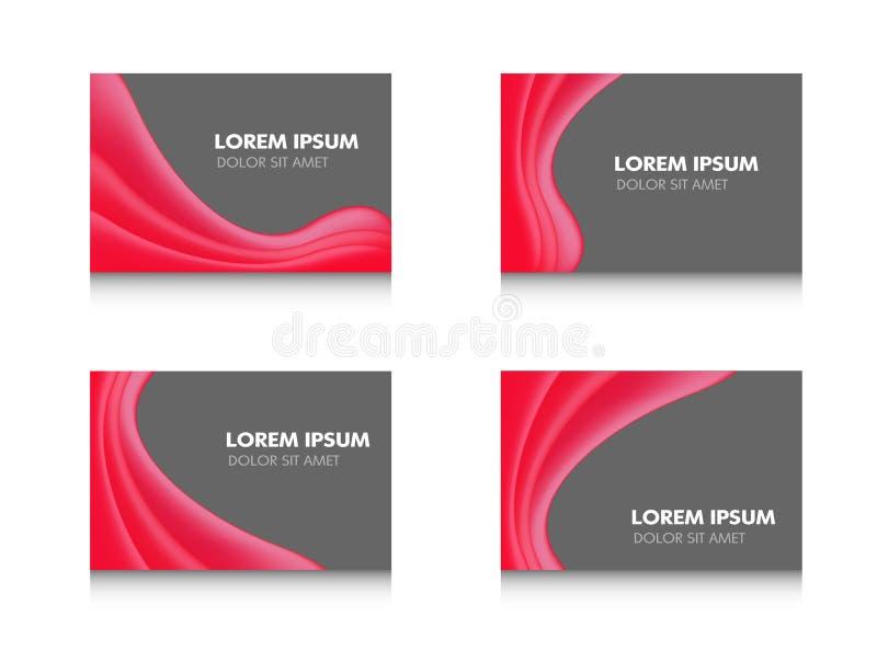 Abstract de bannerontwerp van de brochurevlieger, rode golvend in zwart modern glanzend Vectordieillustratiemalplaatje op witte a stock illustratie