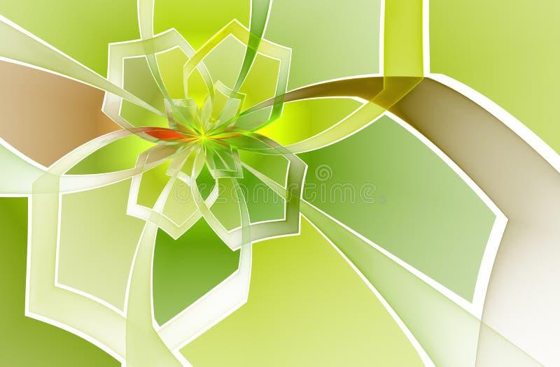 Abstract de bloempatroon van het vlekglas vector illustratie