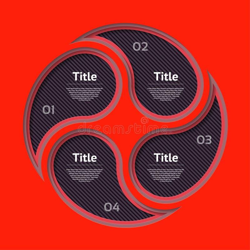 Abstract de optiesmalplaatje van het infographicsaantal Vector illustratie kan voor werkschemalay-out, diagram, bedrijfsstapoptie royalty-vrije illustratie