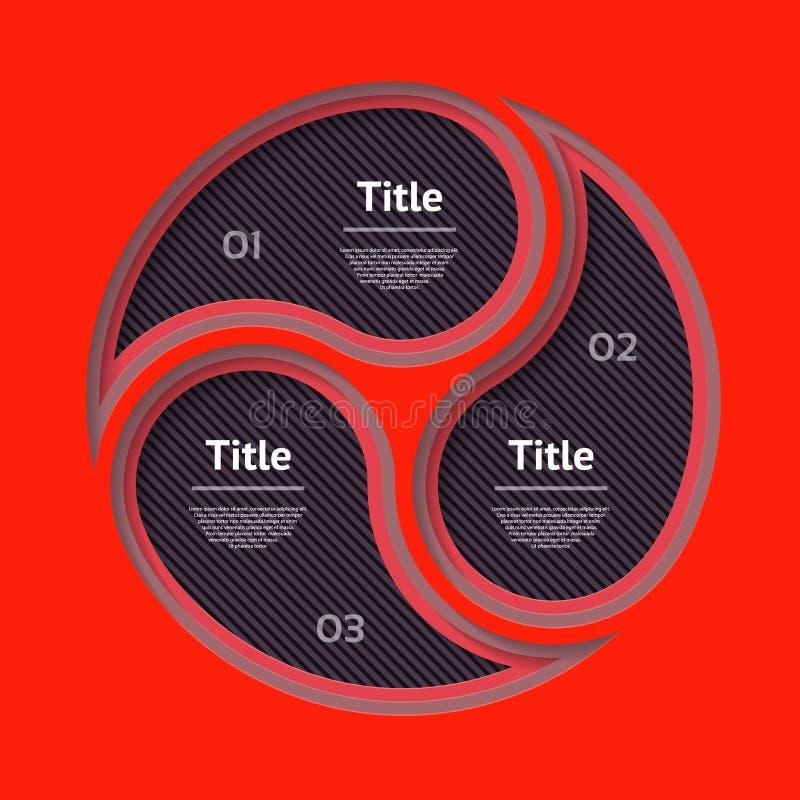 Abstract de optiesmalplaatje van het infographicsaantal Vector illustratie kan voor werkschemalay-out, diagram, bedrijfsstapoptie stock illustratie