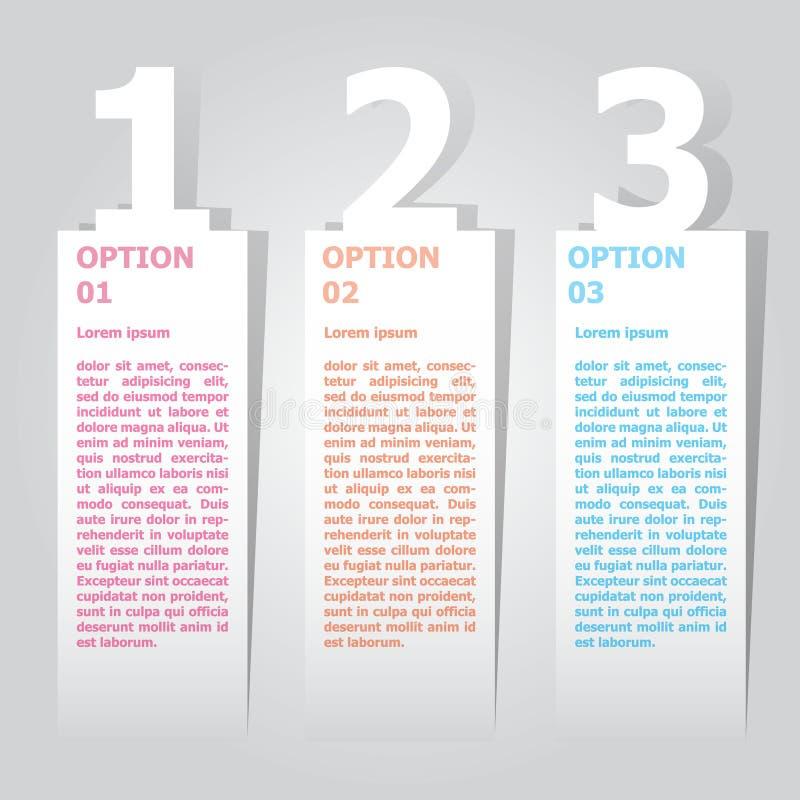 Abstract de optiesmalplaatje van het infographicsaantal Vector illustratie kan voor werkschemalay-out, diagram, bedrijfsstapoptie vector illustratie