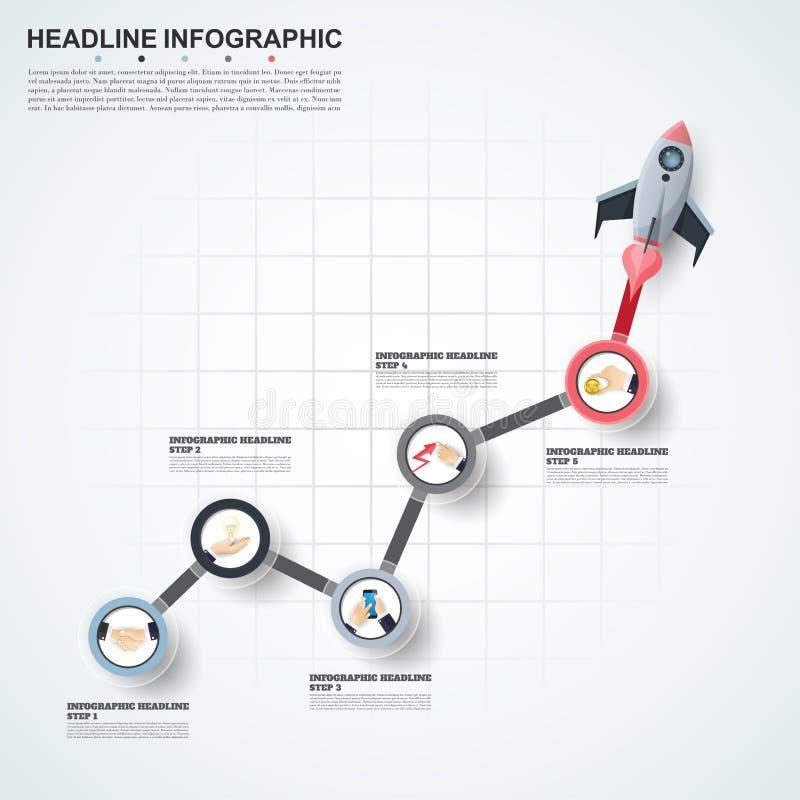 Abstract de optiesmalplaatje van het infographicsaantal Vectorillustrati vector illustratie