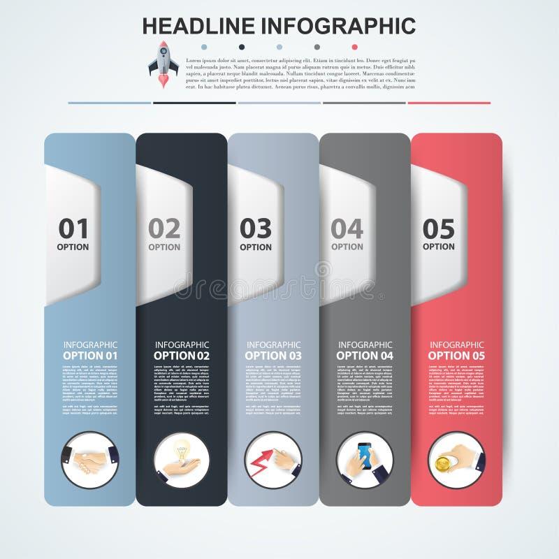 Abstract de optiesmalplaatje van het infographicsaantal Vectorillustrati stock illustratie