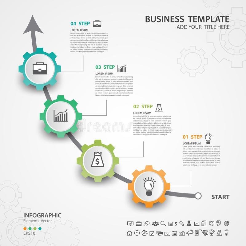 Abstract de optiesmalplaatje van het infographicsaantal, Vectorillustratie, presentatie, het ontwerpbanner van het Webpictogram royalty-vrije illustratie