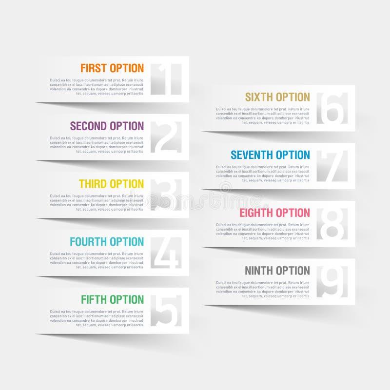 Abstract de optiesmalplaatje van infographicsaantallen stock illustratie