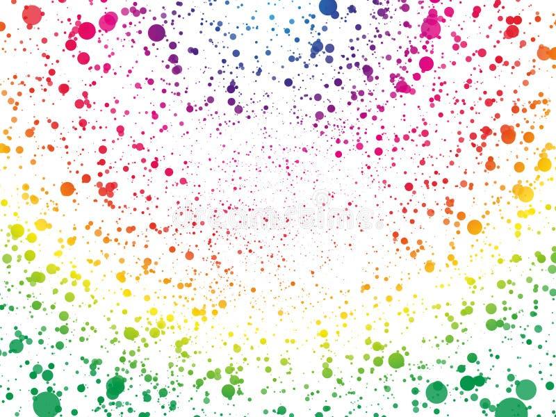Abstract de puntenbehang van de spectrumkleur vector illustratie