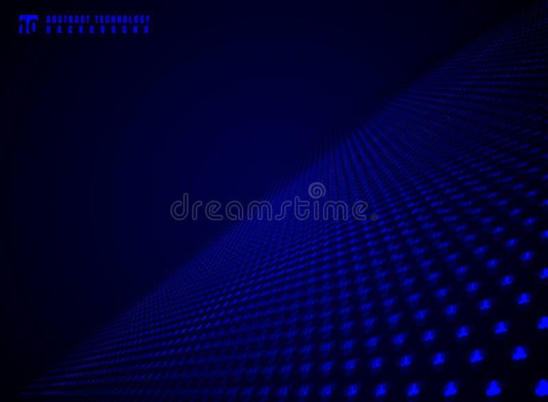 Abstract de visualisatiedeeltje van technologie futuristisch gegevens dynam stock illustratie