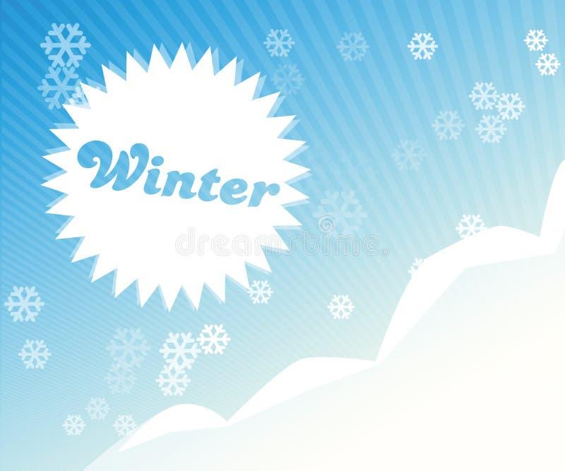 Abstract de winterbeeld stock illustratie