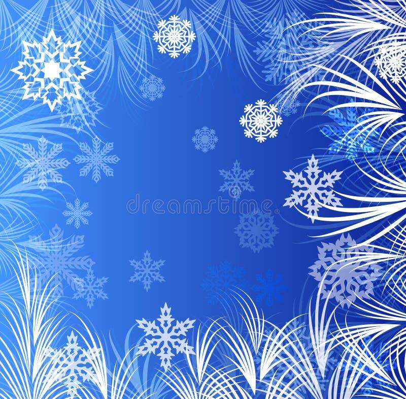 Abstract de wintervenster vector illustratie