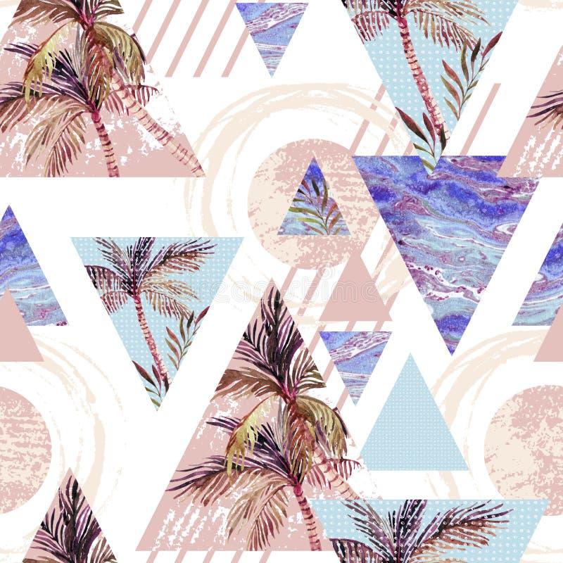 Abstract de zomer geometrisch naadloos patroon stock illustratie