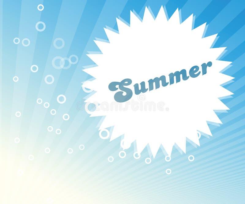 Abstract de zomerbeeld stock illustratie